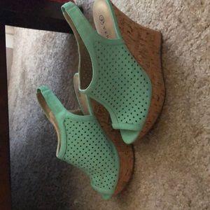 Turquoise Versona heels